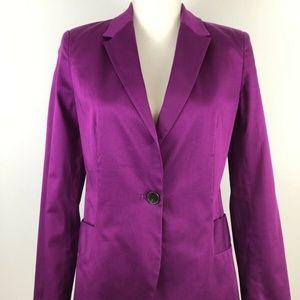 ZARA Basic Blazer Purple Single Button Fully Lined